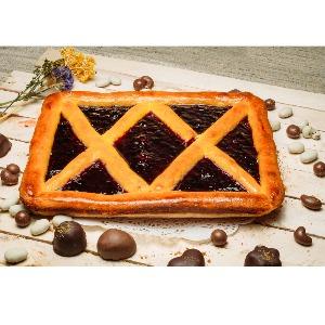 Пирог творожно - смородиновый