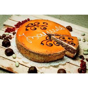 Пирог «Зебра карамельная»